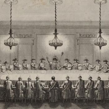 Confédération des États du Rhin le 25 juillet 1806 [estampe], Le Beau. Graveur © Gallica - BnF
